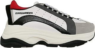 Dsquared Scarpe Uomo Sneakers in Pelle Bumpy 551 SNM0091 01503046 M072 Bianco Nero Rosso Grigio