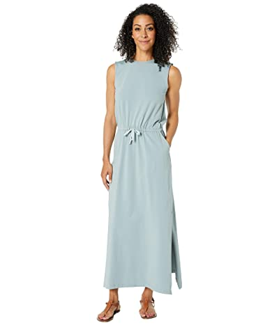 PACT Sleeveless Drawstring Dress (Stone Blue) Women