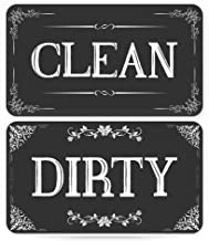 Dishwasher Magnet Clean Dirty Sign - Strongest Magnet Double Sided Flip - With Bonus Metal Magnetic Plate - Universal Kitchen Dish Washer Reversible Indicator (Black Chalkboard)
