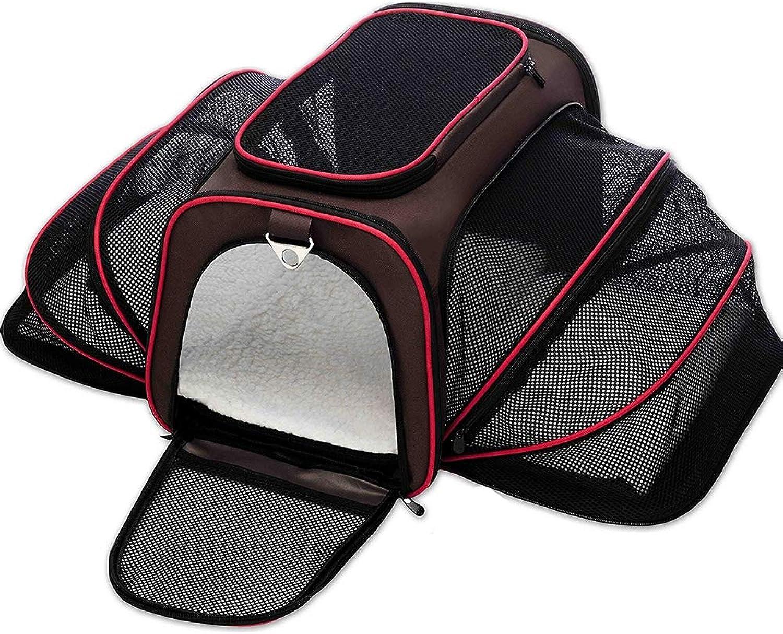Collapsible Pet Shoulder Bag Portable Cat Dog Carrier Breathable Mesh Dog Backpack Outdoor Travel Bag Transport Bag