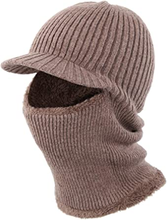LeafIn ニット帽 目出し帽 両用 裏ボア フェイスマスク 耳当て ネックウォーマー 顔 頭 防寒 防風 アウトドア用 スポーツ 釣り用
