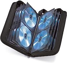 Hama Pochette (pour 120 CD/DVD/Blu-ray, classeur de rangement, gain de place pour le bureau, le salon et la maison, étuis de transport) Noir