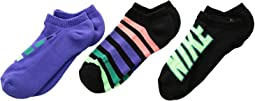 Performance Cushion No Show 3-Pair Socks (Little Kid/Big Kid)