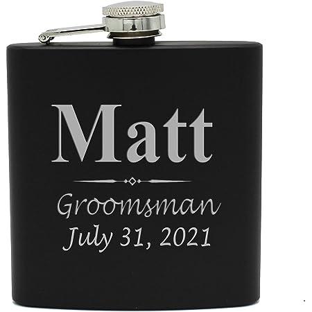 Asking Groomsmen Groomsmen Gift Flask Gifts for Groomsmen Flask Gift Set Groomsman Gift Engraved Flask- 7 Personalized Engraved Flasks