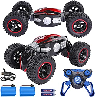 KKEYE RC Car Remote Control Off-Road Vehicles Rock Crawlers All Terrain RC Stunt Monster Truck with Rechargeable Batteries 4WD Dual Motors Electric Racing Car Buggy Hobby Car Kids Toys