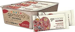 GoMacro MacroBar Organic Vegan Snack Bars, Apple Cinnamon, 2.1 Ounce Bars (Pack of 12)