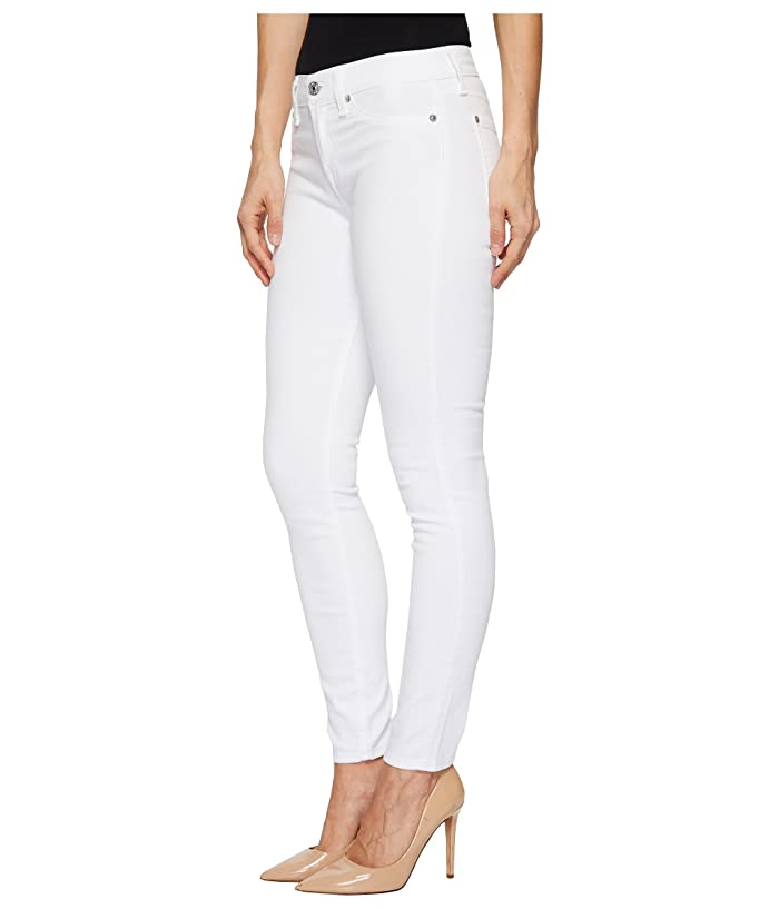 7 For All Mankind Ankle Skinny W/ Faux Pockets In Clean White - Ropa Jeans