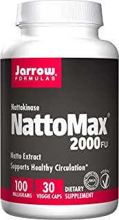 Jarrow Formulas NattoMax, Supports Healthy Circulation, 100 mg, 30 Veggie Caps