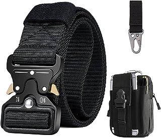 BESTKEE Men Tactical Belt Heavy Duty Belt Military Belts, Gift with Molle Pouch & Hook
