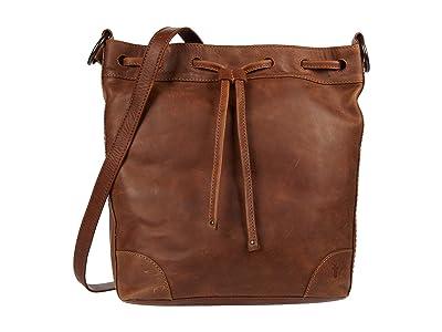 Frye Melissa Drawstring Hobo (Cognac) Handbags