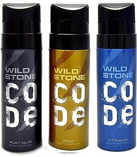 Wild Stone Code Platinum, Gold, Titanium Body Perfume (120ml each)