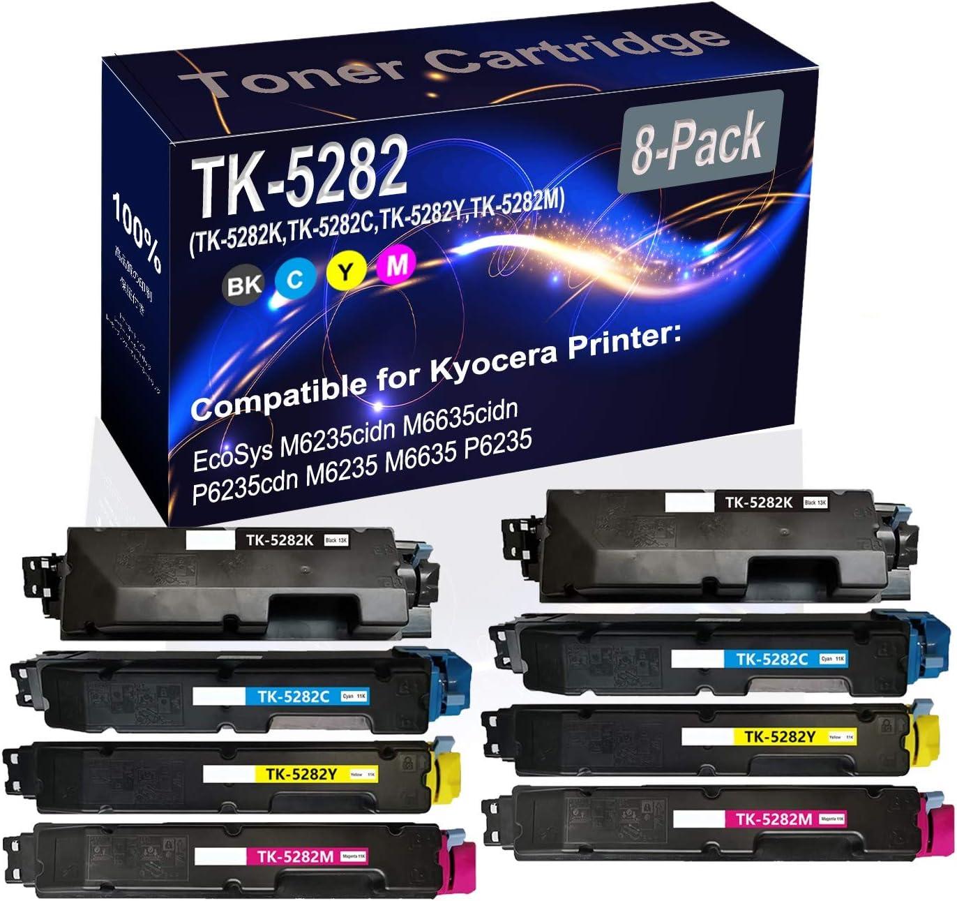 8-Pack 2BK+2C+2Y+2M Max 74% OFF Compatible EcoSys Save money Toner Ca M6235cidn Laser