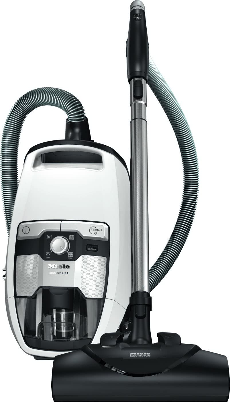 Miele Blizzard CX1 Cat & Dog Bagless Canister Vacuum, Lotus White