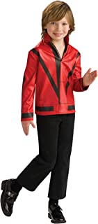 Michael Jackson Child's Red Thriller Jacket Costume Accessory, Small