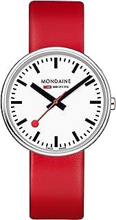 Mondaine - Giant, Reloj de Cuero Rojo para Hombre y Mujer, MSX.3511B.LC, 35 MM