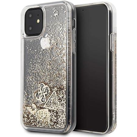 Guess GUHCN61GLHFLGO Cover Hülle aus der Glitter Hearts Collection Serie für das iPhone 11, Gold