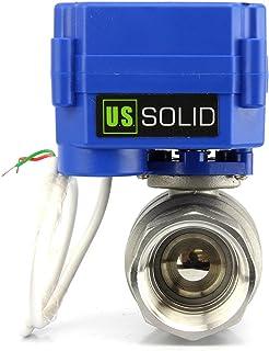 """U.S. Solid 電動ボールバルブ G 1"""" ステンレス鋼 110V AC 電気ボールバルブフルポートで DN25、2線自動復帰、ノーマルクローズ"""