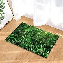 Nature Bath Rugs, Selva Hylaea Dense Green Plant Clean Air, Non-Slip Doormat Floor Entryways Indoor Front Door Mat, Kids B...