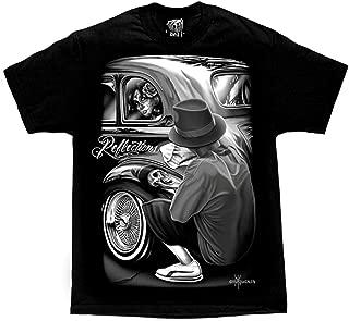 David Gonzales Men's Reflections Lowrider Skull Chicano DGA Art T Shirt
