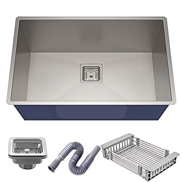 CITRA 304 Under Mount Single Bowl Stainless Steel Satin Finish Kitchen Sink (600 x 450 x 250 mm)