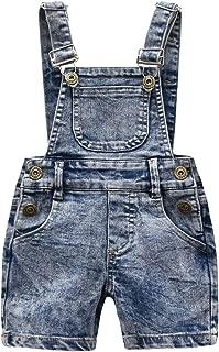 KidsCool Little Girls Boys Fashion Big Bibs Jeans Shortalls
