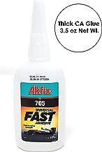 Akfix Thick Super Glue. Cyanoacrylate CA Glue Clear 125GW - 3.5 oz NetW.