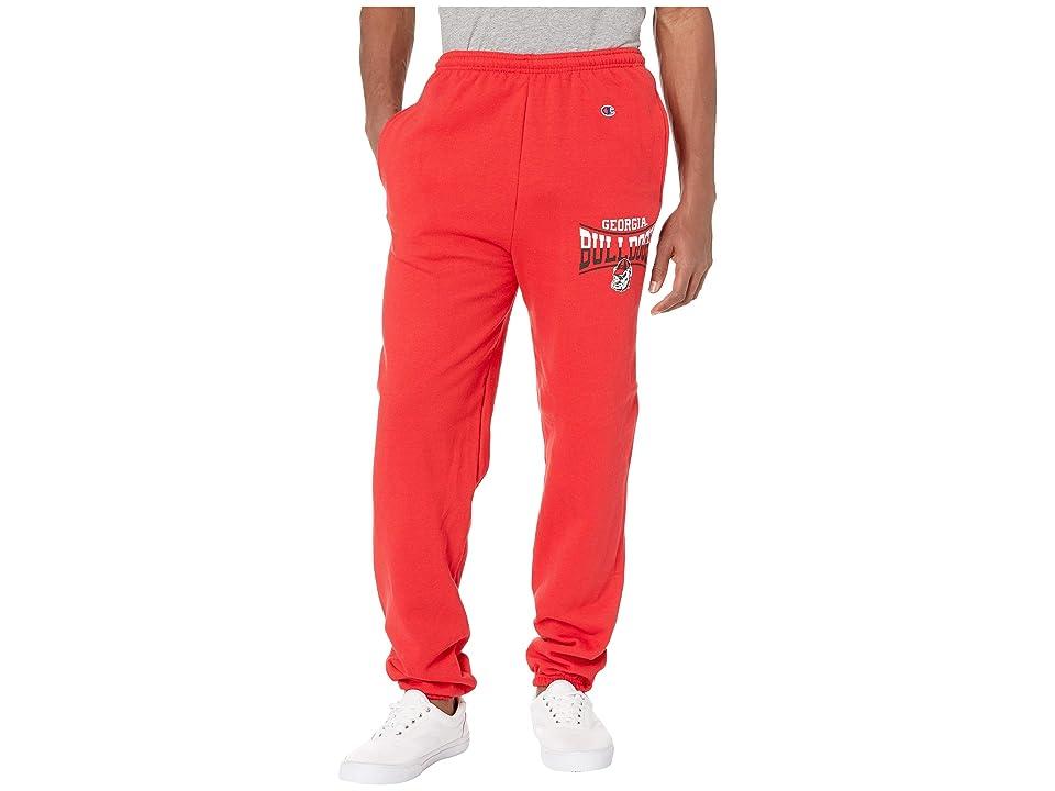 Champion College Georgia Bulldogs Eco(r) Powerblend(r) Banded Pants (Scarlet) Boy
