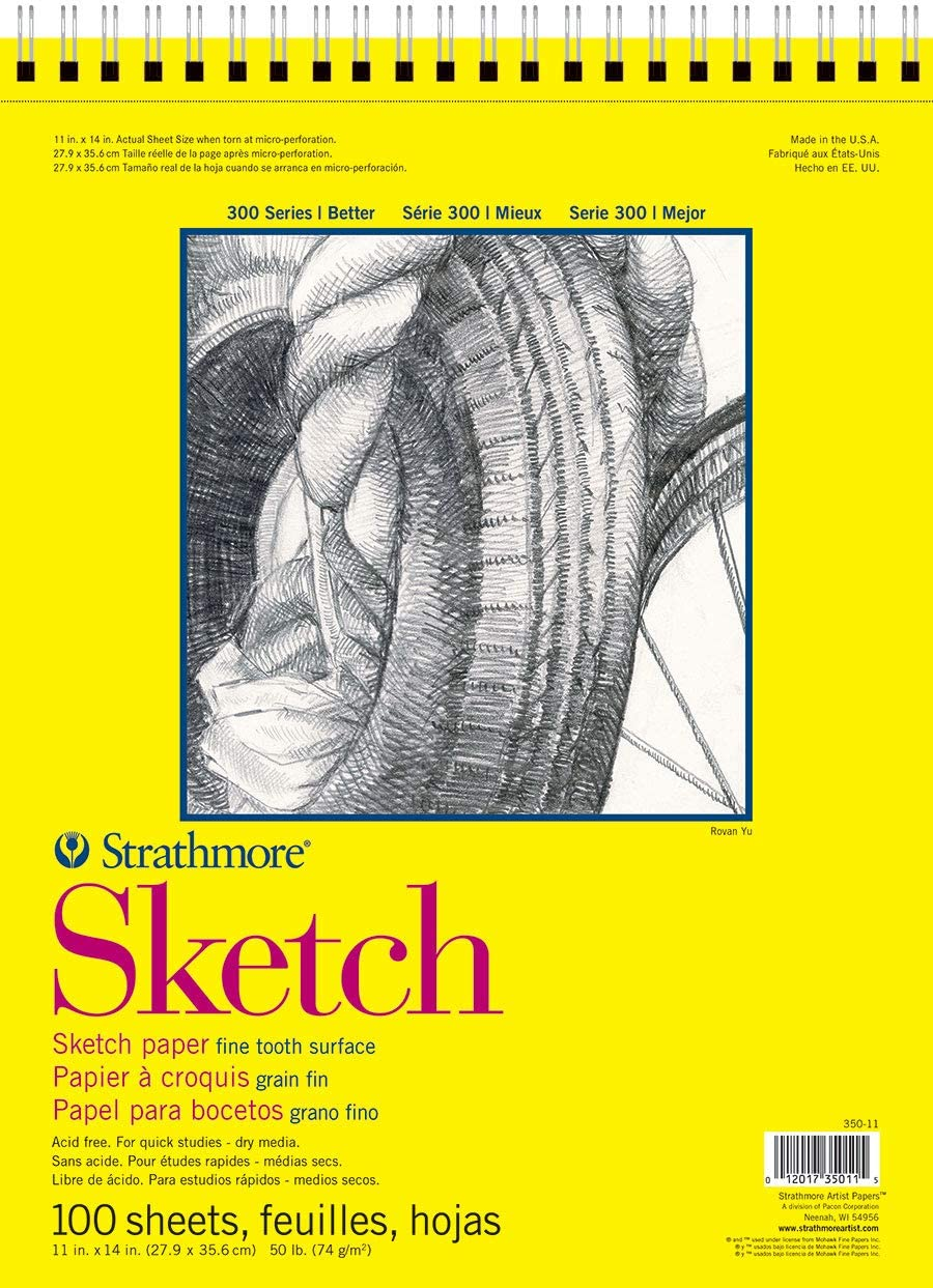 Strathmore 350-6 300 Series Sketch Pad, 5.5x8.5, White, 100 Sheets - New