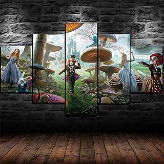 Alice au pays des Merveilles Sticker Chambre Denfants Amovible Mur D/écor Cartoon de Vinyle Home Wall Sticker 58 X 71 CM