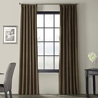 HPD Half Price Drapes VPCH-190622-84 Signature Blackout Velvet Curtain (1 Panel), 50 X 84, Hunter Green