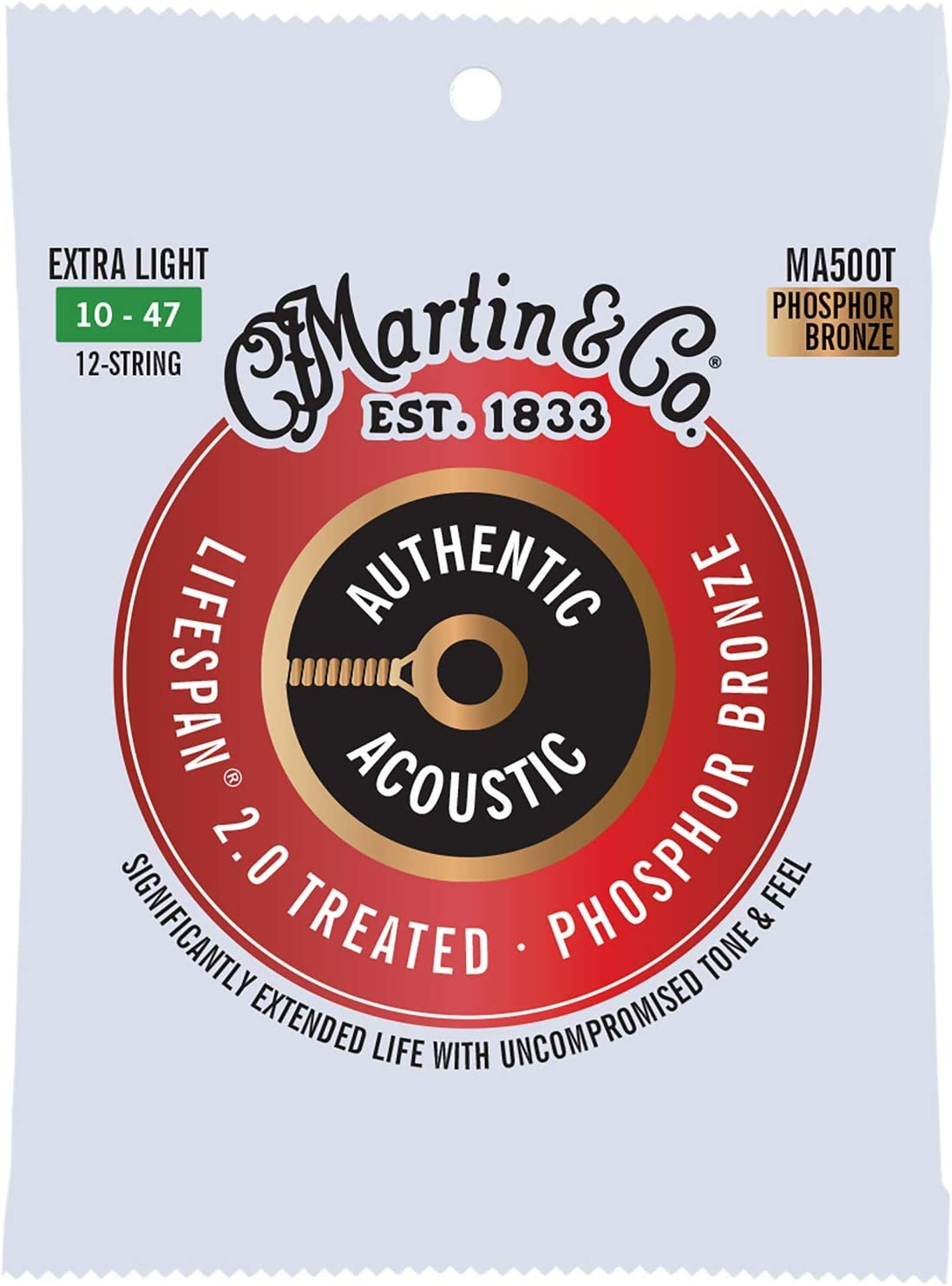 Max 56% OFF Martin Guitar Authentic Acoustic Max 58% OFF Lifespan Phosp MA500T 92 2.0 8