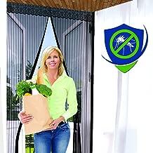 Puerta de malla/mosquitera magnética (varios tamaños y variaciones de color) ★ Calidad prémium ★ Resistente y duradera. 39X83 Inch negro
