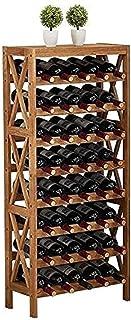 HZWLF Étagère décorative de Support de Cave à vin pour Le Stockage de Barre de Salon de Cuisines Noël