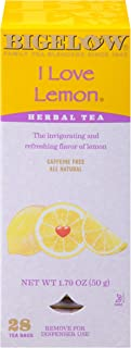 Bigelow I Love Lemon Herbal Tea Bags 28-Count Box (Pack of 1) Lemon-flavored Herbal Tea Bags with Vitamin C All Natural