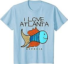 Kids I Love Atlanta T-Shirt, Fun Cute Fish Georgia Tee