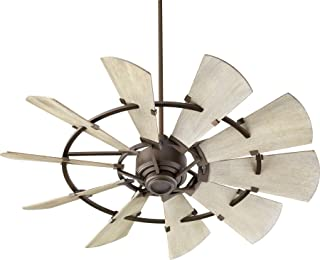 Quorum 95210-86 Windmill 52-inch Ceiling Fan with Wall Control Oiled Bronze