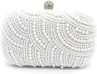 Kingluck Pearl Beaded with Pu Clutch Bag Popular Design Shining Pearl Lady Evening Bag