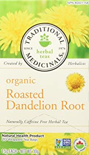 Traditional Medicinals Organic Roasted Dandelion Root, Caffeine Free, 16 Wrapped Tea Bags.85 oz (24 g)