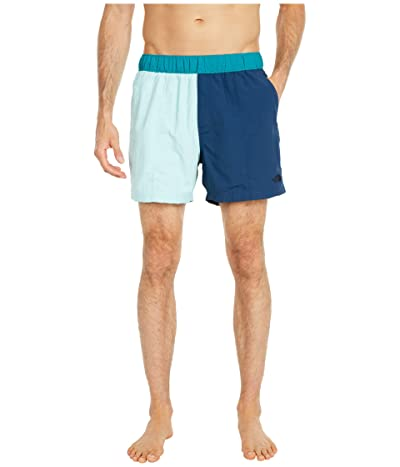 The North Face Class V 5 Pull-On Trunks (Coastal Green/Blue Wing Teal) Men