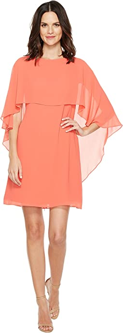 Vince Camuto - Dress with Bateau Neckline and Cape Back Overlay