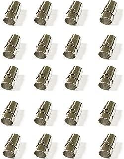REKYO 20pcs Abalorios Para Hacer Pulseras Cierres Para Pulseras Cordon Cuero Cordon De Cuero(4mm)