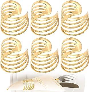 Doyeemei 5/pcs de No/ël ronds de serviette Supports D/écorations de table