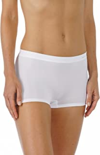 Mey 59218-1 Women's Emotion White Solid Colour Knicker Shorties Boyshort