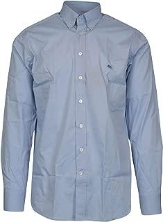 ETRO Luxury Fashion Mens 1636564000250 Light Blue Shirt |