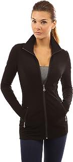 PattyBoutik コットンブレンド 襟付き ポケット付き カジュアル ストレッチ 軽量ジップジャケット