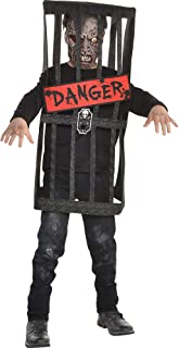 Caged Zombie Halloween Costume for Boys, Medium, with Included Accessories, by Amscan