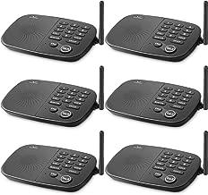 Wireless Intercom System Hosmart 1/2 Mile Long Range 10-Channel Security Wireless Intercom System for Home or Office[6 Units Black]