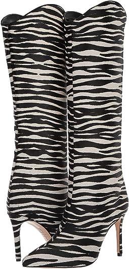 Pearl/Black Wild Zebra Vacum/Nobuck