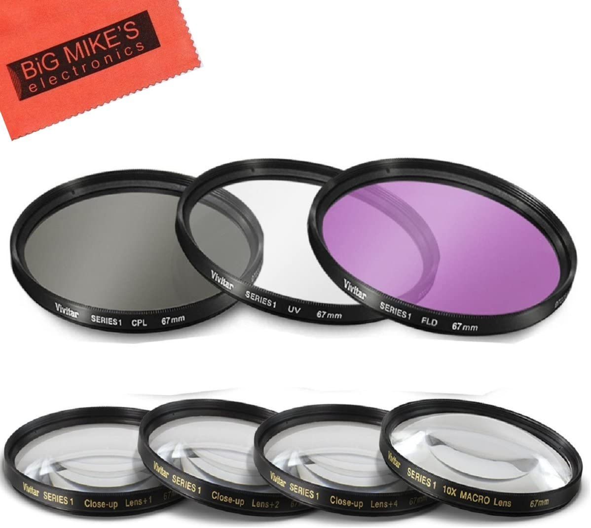 Miami Mall 67mm 7PC Filter Set for Canon 80D T6i T6s T7i EOS In a popularity Rebel
