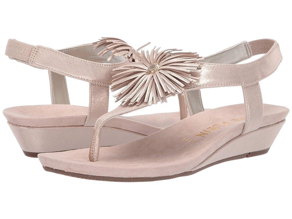 Anne Klein Isotta Wedge Sandal (Blush) Women